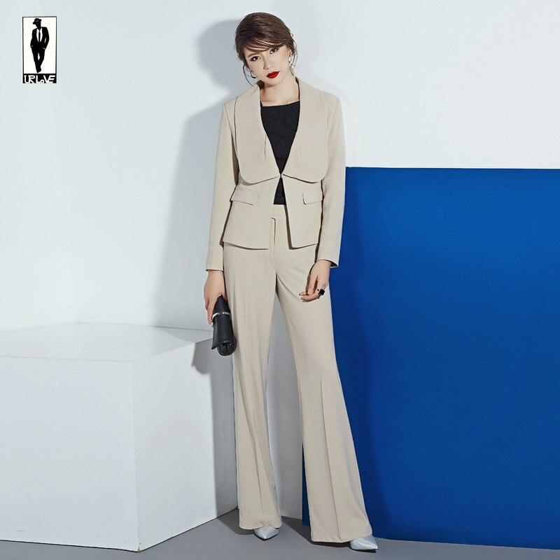 UR 129 Custom Khaki Bussiness Formal Elegant Women Suit Set
