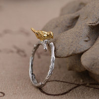 GZ 925 Sterling Silver Ring Handmade Bird Shape Anillos Male S925 Thai Silver Rings For Women