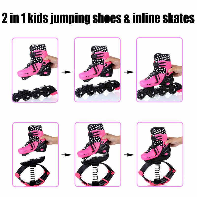 6508bbec7e6222 ... 2 In 1 Skate And Kangaroo Jump Shoes Fitness Exercise 30-50kg(66lb- ...