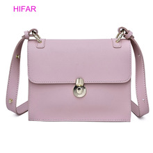 British Fashion Simple Small Square Bag Women's Designer Handbag 2019 High-quality PU Leather Chain Mobile Phone Shoulder bags недорого