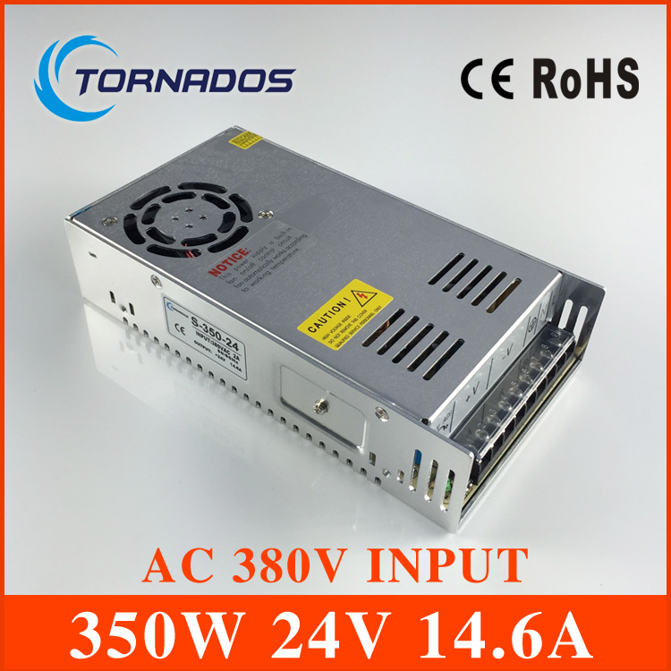 AC 380V input 24V 14.6A output 350W switching power supply of high reliability industrial switch power supply AC-DC Converter switching power supply 5v ccfl inverter instead of cxa m10a l 5 7 inch industrial screen high pressure lm 05100 drive