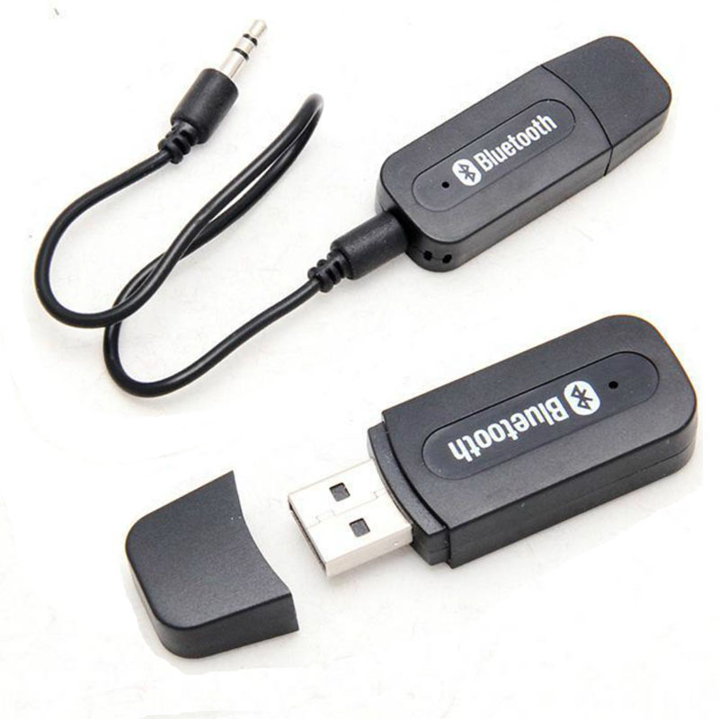 USB Wireless Bluetooth Music Stereo Receiver Adapter AMP Dongle Audio Home Speaker 3.5mm Jack