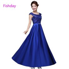 Fishday Evening Dresses Green Royal Blue Women Long Red Plus Size Elegant  For Wedding Prices Mother of Bride Sale Sheer Neck B30 a8a0631335b5