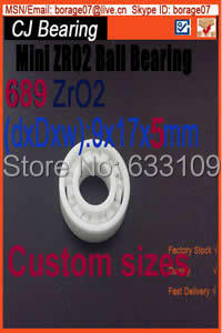 Full zro2  689 Ceramic bearing 9 * 17 * 5 MM 618/9 zirconia bearing  ZrO2  high temperature insulation corrosion 689 ceramic bearing 9x17x4 zirconia zro2