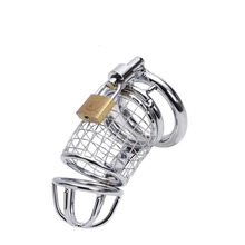 Penis Ring Male Chastity Device Cage Urethral Catheter Metal Chastity Belt Cock Cage Sex Toys For Men 3 Size  все цены