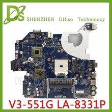 Kefu NBC1811001 Q5WV8 LA-8331P материнская плата для Acer aspire V3-551G V3-551 Материнская плата ноутбука DDR3 Radeon HD 7670 M исходный тест