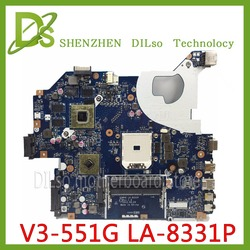 KEFU NBC1811001 Q5WV8 LA 8331P płyta główna do acer aspire V3 551G V3 551 laptopa płyty głównej płyta główna w DDR3 Radeon HD 7670M oryginalny testowany w Płyty główne od Komputer i biuro na