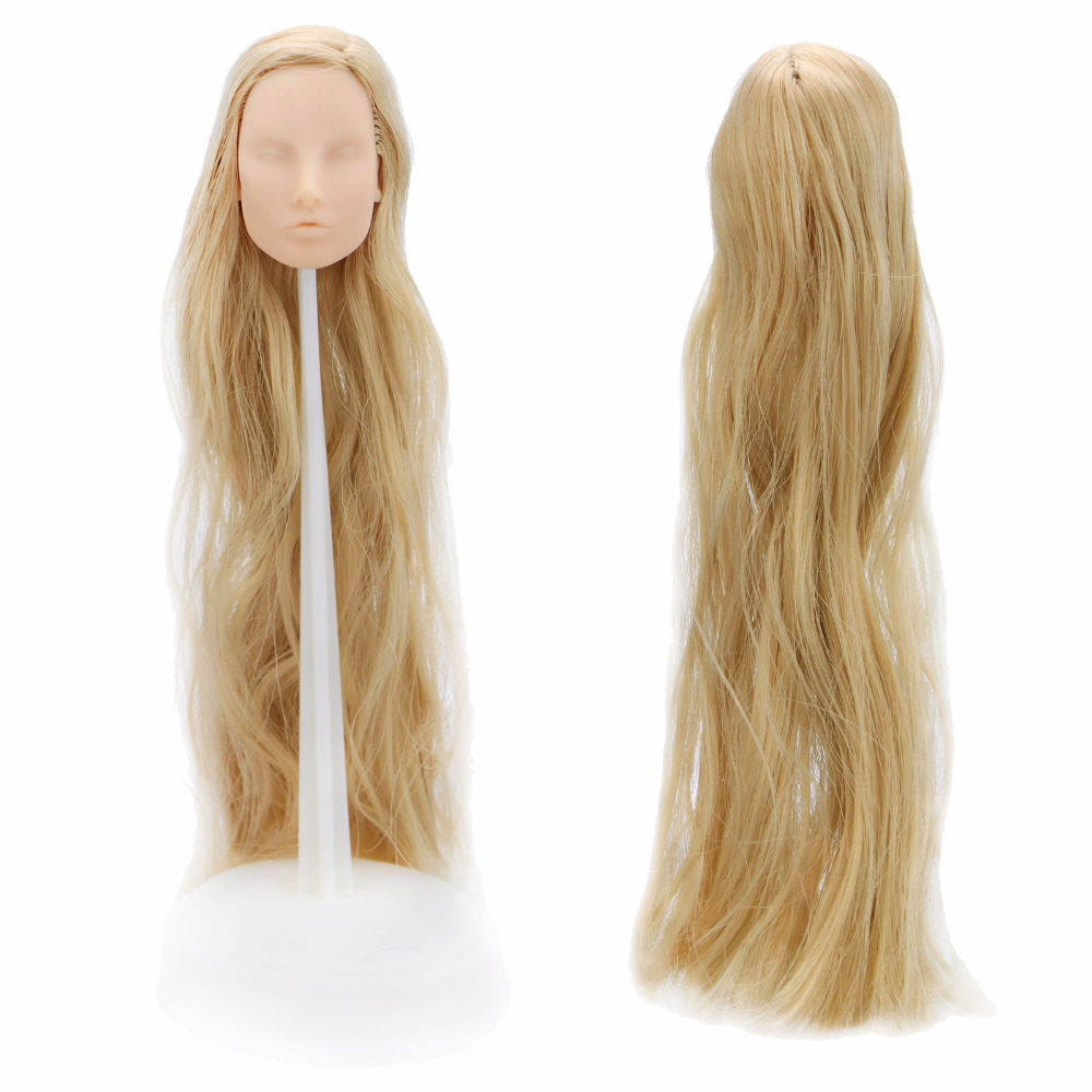 High Quality Diy Doll Head No Makeup Blonde Hair Practice