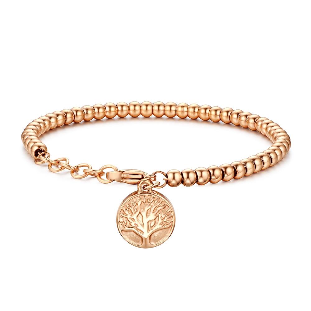 BONISKISS 2018 Trendy Charm Bracelets For Women Stainless Steel beauty Snake Chain Women's Decoration Wedding Anniversary Gift