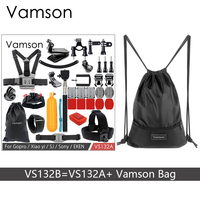 Vamson Accessories For Gopro Hero 6 5 4 3 Set Storage Bag Monopod Helmet Strap Phone