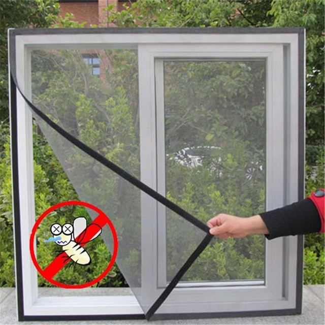 DIY Door Window Net Mesh Screen Insect Fly Bug Mosquito Curtain Protector Flyscreen Netting Protector For & DIY Door Window Net Mesh Screen Insect Fly Bug Mosquito Curtain ...