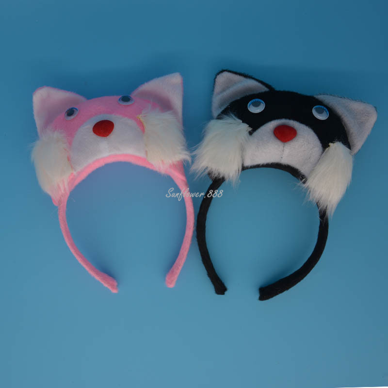 2017 New Black Pink White Cat Animal Ear Headband Kids Adults Headwear Headdress Halloween Party Fancy Dress Decor