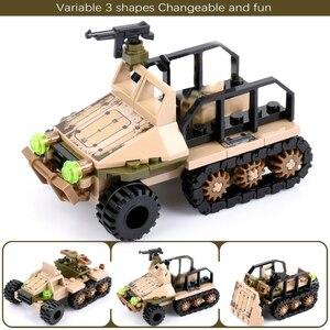 Image 5 - 1061 + 個ビルディングブロック街区軍トラックビルディングブロック軍用車両プレイモービルビルディング子供子供のためのギフト