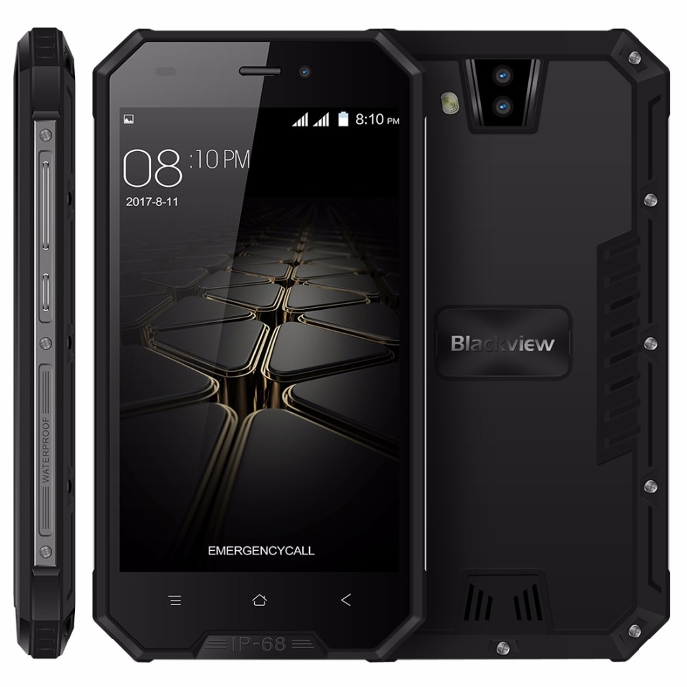 "Blackview BV4000 IP68 Waterproof Mobile Phone 4.7"" HD Quad Core Android 7.0 1GB+8GB 8MP Dual Rear Cameras 3G 3680mAh Smartphone"