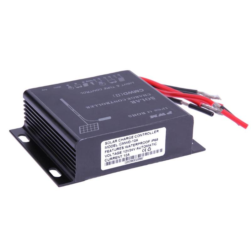 Waterproof IP68 LED 10A/20A PWM Solar Panel Charge Regulator Controller 12-24V Auto Switch Timer with Auto,Manua,Debug Mode 25