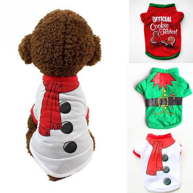 Costume Vestiti Del Cane di Inverno Di Natale di Cotone Caldo Giacca Pet Outfit