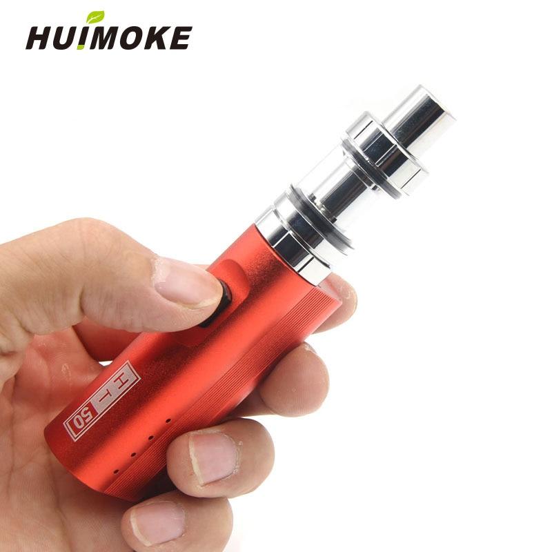 New Vape pen Electronic Cigarette HT 50 Box Mod kit 2200mAh ht50 50W E-Cigarette kits 2ml Atomizer Tank Vaporizer Vapor