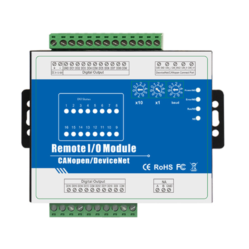 Industrial IOT Module DeviceNet Automation Controller With 16 DOfor HMI PLC Supports High Speed Pulse Output M420D