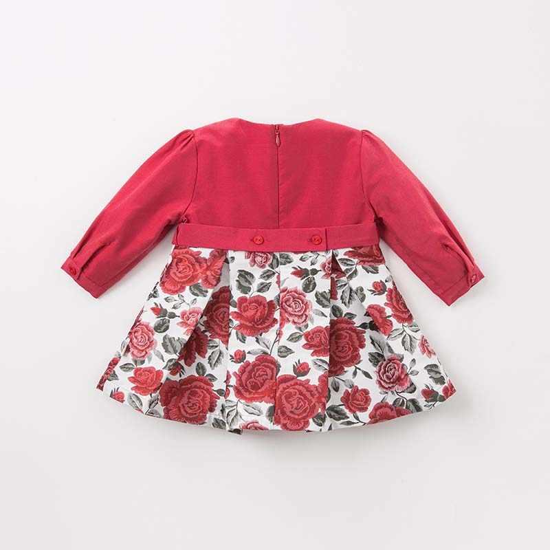 dave bella baby Princess floral dresses girls wedding party birthday dress children boutique lolital long sleeve dress
