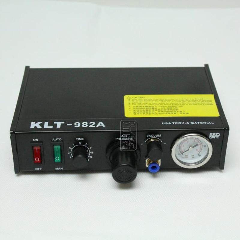 New KLT-982A Semi Automatic Glue Dispenser machine Solder Paste Liquid Dispensing Machine klt 982a solder paste glue dropper liquid auto dispenser controller black