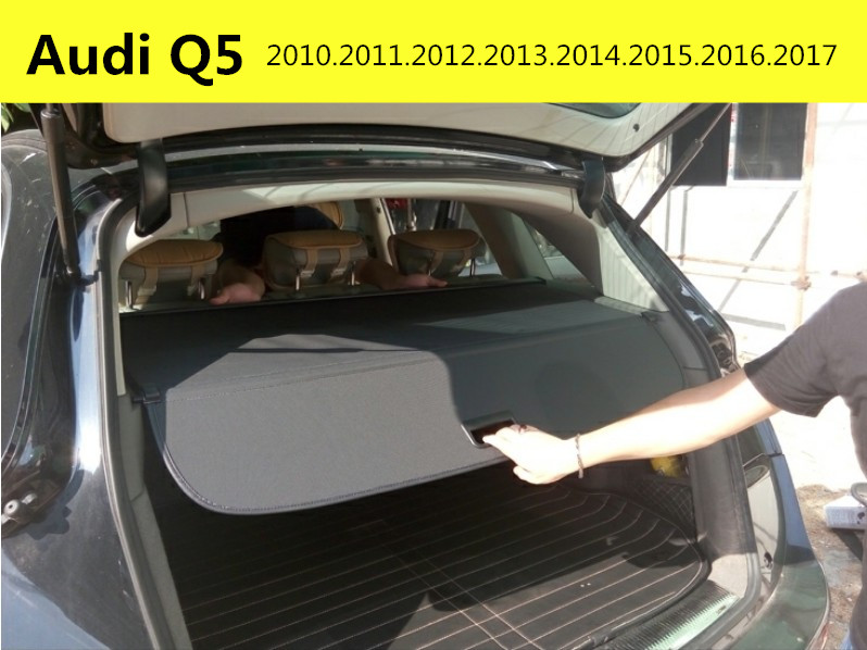 Car Rear Trunk Security Shield Cargo Cover For Audi Q5 2010.2011.2012.2013.2014.2015.2016.2017 High Qualit Auto Accessories car rear trunk security shield cargo cover for hyundai tucson 2006 2014 high qualit black beige auto accessories