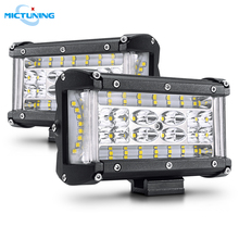 MICTUNING 5inch Dual Side Shooter Pods Trucks Offroad Spot Flood Combo Front Grill Auxiliary Lamps Automotive LED Work Light Bar