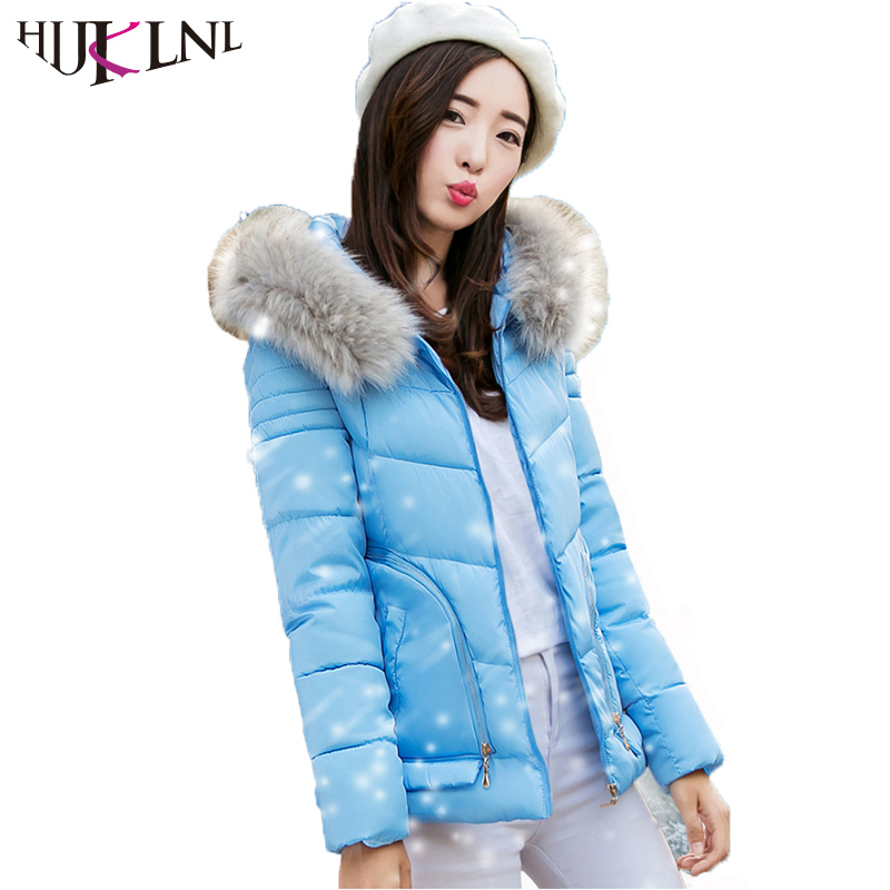 HIJKLNL manteau hiver femme 2017 Autumn Winter Slim Jacket Coat For Women New Hooded Fur Collar Zipper Coton Wadded Parka NA235 new 2017 winter autumn cotton short basic jacket women hooded casaco coat warm manteau hiver femme fur collar slim coats