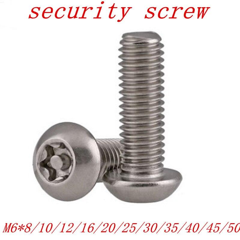 10PCS M6*8/10/12/16/20/25/30/35/40 Pin torx Button Head Tamper Proof Security Screw Anti Theft screw10PCS M6*8/10/12/16/20/25/30/35/40 Pin torx Button Head Tamper Proof Security Screw Anti Theft screw