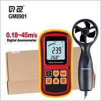 RZ Speed Measuring Instrument GM8901 45m/s Anemometro LCD Display Digital Anemometer Wind Meter Air Velocity Temperature Meter