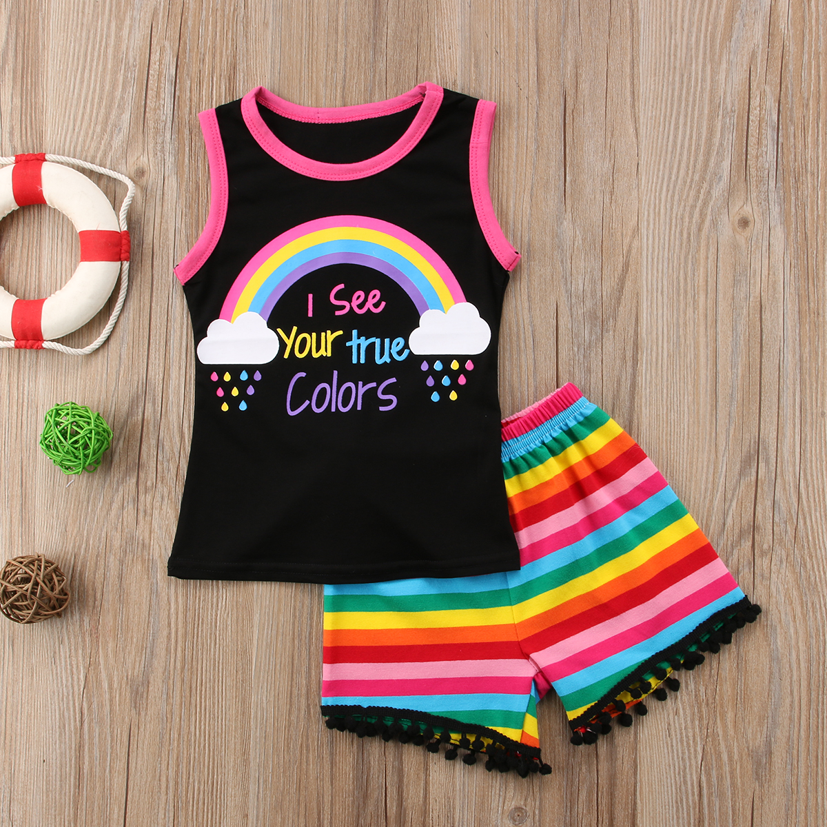 6c1470b45c 2018 new Newborn Kids Baby Girls Floral Tops T-shirt Pants Shorts Outfits  Clothes Set