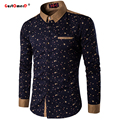 GustOmerD Spring Fashion Brand Men Clothes Slim Fit Men Long Sleeve Business Shirt Men Polka Dot Casual Men Shirt Social M-5XL