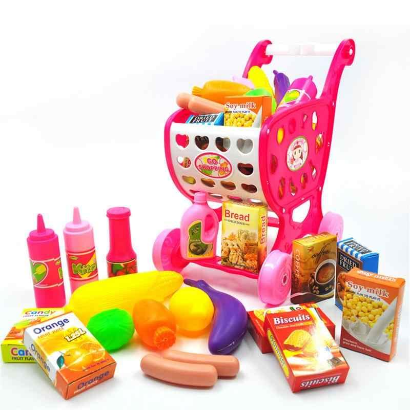 20 Buah/Set Rumah Bermain Anak Simulasi Keranjang Belanja Mainan Troli Supermarket Membantu Anak-anak Perkembangan Intelektual
