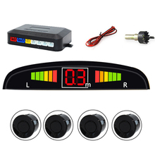 Auto Reversing Radar with 4 Sensors Car Parking Sensor Car LED Screen Blind Spot Detection System Display Parktronic Sensors стоимость