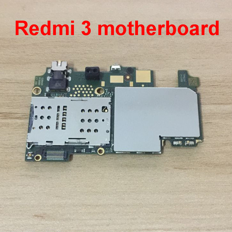 In Stock 100% Working 16gb Board For <font><b>Xiaomi</b></font> <font><b>Redmi</b></font> <font><b>3</b></font> Redmi3 <font><b>Motherboard</b></font> Smartphone Repair Replacement + tracking number image