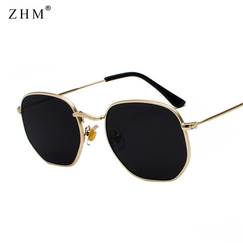 Солнцезащитные очки в винтажном стиле для мужчин и женщин, зеркальные классические ретро солнечные очки-авиаторы с квадратной металлическ...