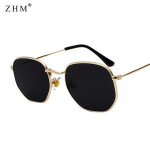 2020 Vintage Sunglasses Men Square Metal Frame Sunglasses Pilot Mirror Classic Retro Sun Glasses Women Luxury Summer Eyewear