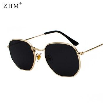 2020 Vintage Sunglasses Men Square Metal Frame Sunglasses Pilot Mirror Classic Retro Sun Glasses Wom