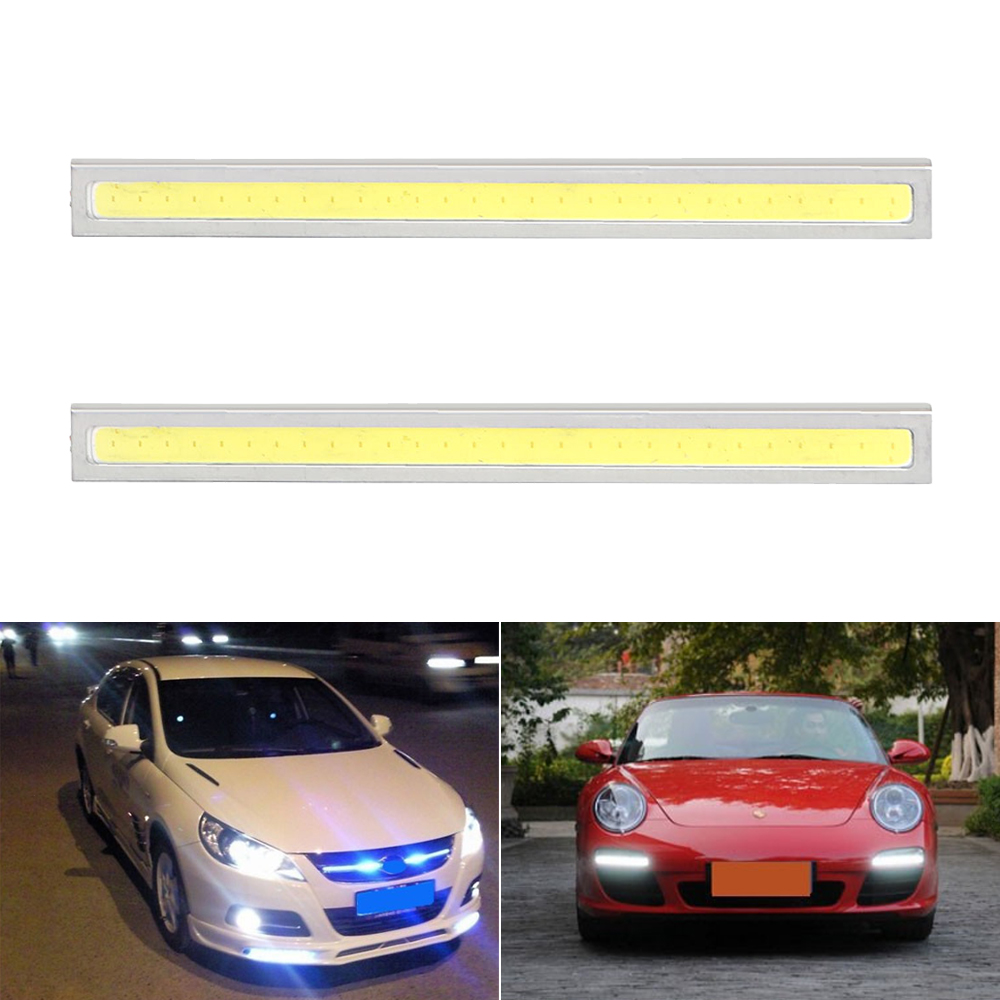 2Pcs Waterproof LED Car Daytime Running Lights Car-styling COB LED Car DRL Auto Day Ligh ...