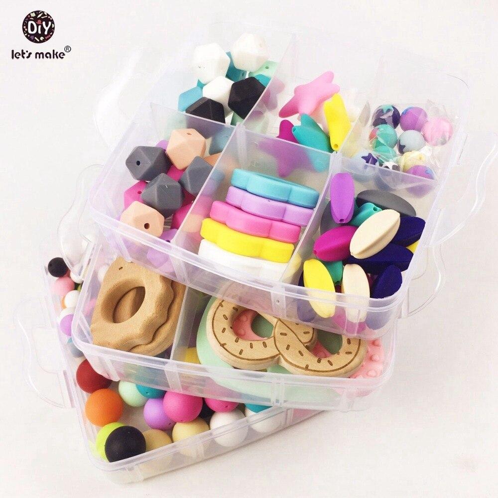 Faisons un jouet de dentition en bois sûr pour bébé jouet Waldorf bambin jouets bébé douche Nature en bois fleur collier bracelet ensemble