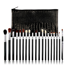 Professional 19PCS Makeup Brushes Eye brow brush Eyeshadow Eyeliner Lip for Complete Make Up with bag