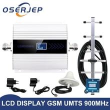 Led ekran GSM 900 Mhz tekrarlayıcı celular cep telefon sinyal tekrarlayıcı güçlendirici, 900 MHz GSM amplifikatör + Yagi/tavan anteni