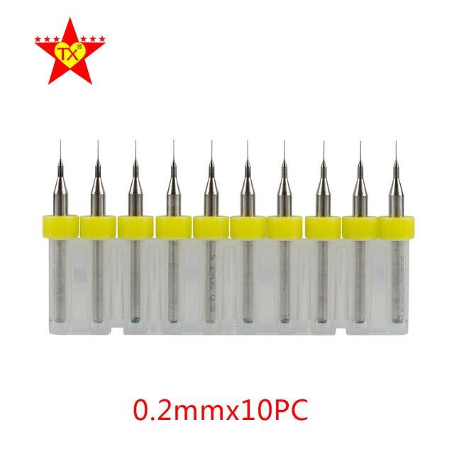 tx 10pcs mini pcb drill bits tool set for metal cnc circuit boardtx 10pcs mini pcb drill bits tool set for metal cnc circuit board engraving 0 2mm power tungsten carbide drill instuments kit