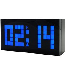 LED Digital Clock Electronic Wall Clock Bedroom Snooze Alarm Clock Calendar and Temperature Table Clock