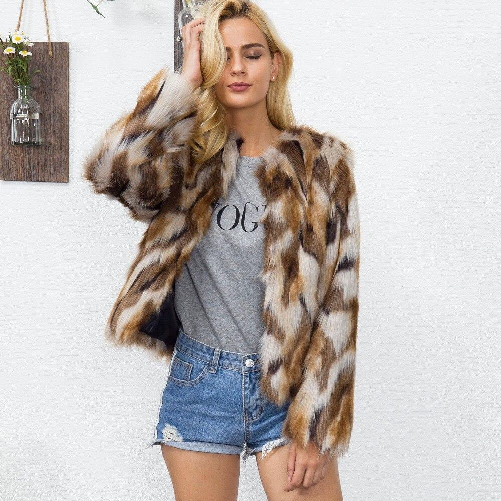 Parkas Rayé Hiver Fausse Qualité Chaud A Luxe Fourrure Pour En Femmes Les Haute Mode b Veste Manteaux Femmes De Manteau Artificielle YwqxP