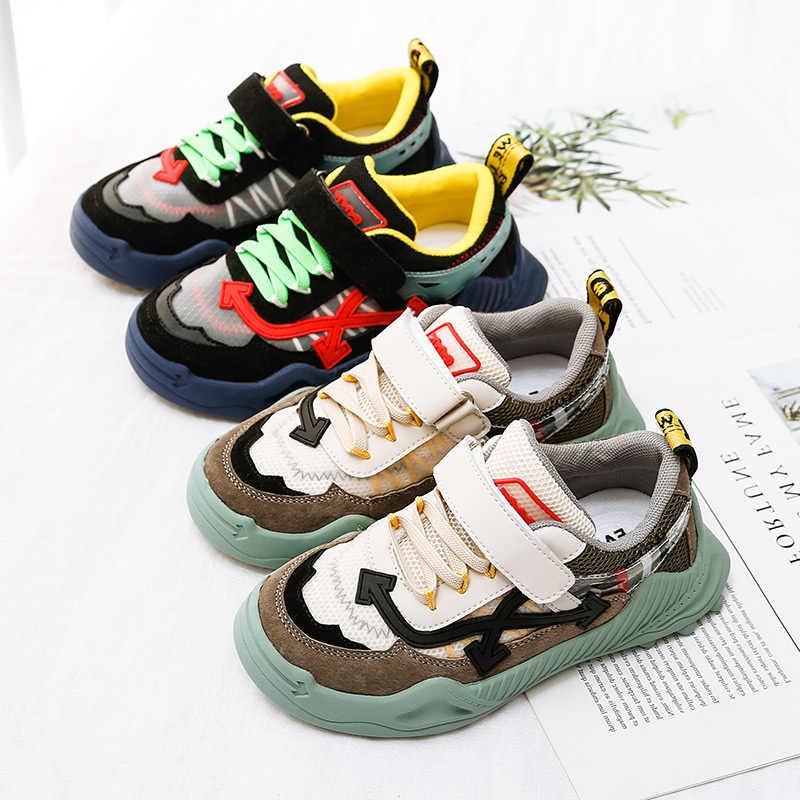 Mùa Thu Trẻ Em Thể Thao Giày Bé Gái Da Thật Chính Hãng Da Đế Mềm Trẻ Em Giày Lưới Bé Trai Thương Hiệu Chun Giày Huấn Luyện Viên
