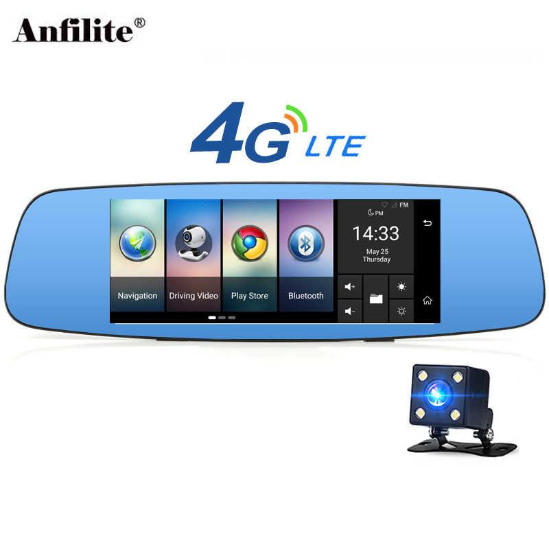 Anfilite A800 4 جرام/3 جرام 7 بوصة أندرويد 5.1 شاحنة لتحديد المواقع الملاحة داش كامير فيديو محرك مسجل مرآة الرؤية الخلفية مع سيارة كاميرا DVR