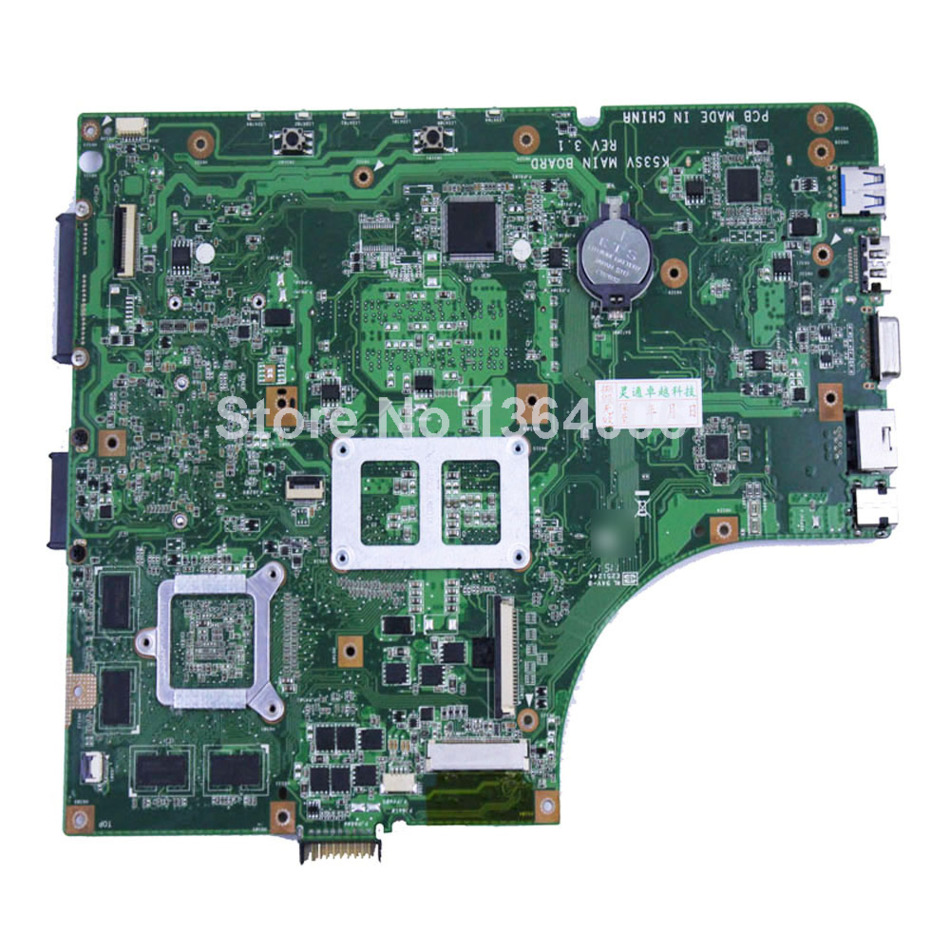 Factory price For Asus K53SV K53SM A53S X53S font b motherboard b font 8 memory laptop