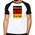 Hot Fitness & body building T-shirt Mangas Curtas Alemanha 2018 estamos prontos crossfit homens t camisa de algodão de verão