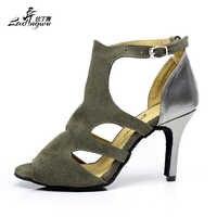 NEW Brand Women's Flannel Latin Dance Shoes Wholesale Spot Party Squre Salsa Daning Shoes High Heels 6cm/7.5cm 8.5cm