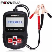 2016 Multi Языка 12 В Автомобильный Аккумулятор Тестер FOXWELL BT100 Pro Авто Анализатор Батарей с Русский Автомобильный Аккумулятор Инструмент Тестирования